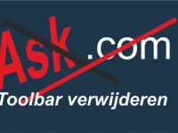 Ask toolbar verwijderen