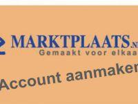 Marktplaats account aanmaken