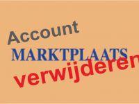 Marktplaats account verwijderen
