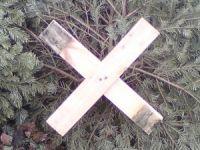 Kerstboom kruis maken