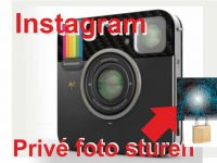 Instagram privé foto sturen