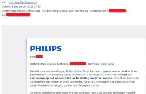 Levert philipsstore.nl dan eindelijk onze lampjes?!