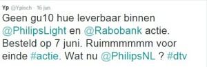 Philips Hue niet te bestellen