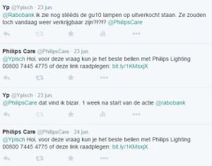 Dubbele reactie PhilipsCare