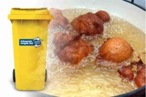 Oud frituurvet in de gele kliko
